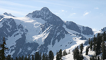 Skiing and snowboarding at mount baker